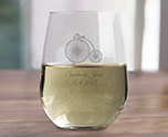 Engraved 17 oz Stemless Wine Glass Wedding Favor, Customizable Bridal Glassware cheap favors