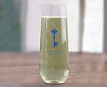 Personalized 8 oz Stemless Champange Glass, Customizable Bridal Glassware Party Favor cheap favors
