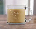 Engraved 13 oz Coffee Mug Glass Favors cheap favors