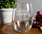 Engraved 15 oz Stemless Wine Glass cheap favors