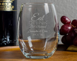 Personalized Engraved 9 oz Wine Glasses cheap favors