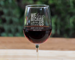 Engraved Goblet Wine Glass Favor cheap favors