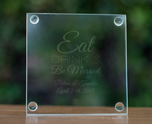 Engraved Glass Coasters cheap favors