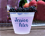Personalized Frosted Cups 16 oz- Couples Name cheap favors