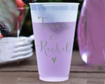 Personalized Frosted Cups 12 oz- First Name Heart cheap favors
