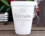 Personalized foam cup 12 oz- Wedding cheap favors
