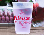 Personalized Frosted Cups 12 oz- Wedding cheap favors