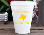 Personalized foam cup 12 oz- State Wedding cheap favors