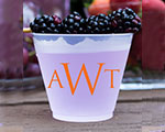 Personalized Frosted Cups 16 oz- Triple Monogram cheap favors