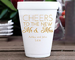Personalized foam cup 12 oz- Cheers New cheap favors