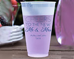 Personalized Frosted Cups 16 oz- Cheers New cheap favors
