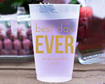 Personalized Frosted Cups 16 oz- Best Day Ever cheap favors