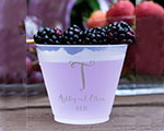 Personalized Frosted Cups 12 oz- Fancy Monogram cheap favors
