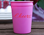Personalized foam cup 12 oz- Cheers cheap favors
