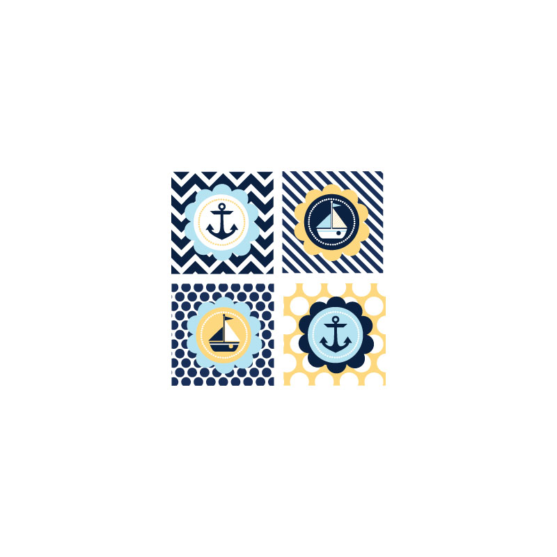 Nautical Baby Shower Decorative Favor Tags (Set of 20) cheap favors