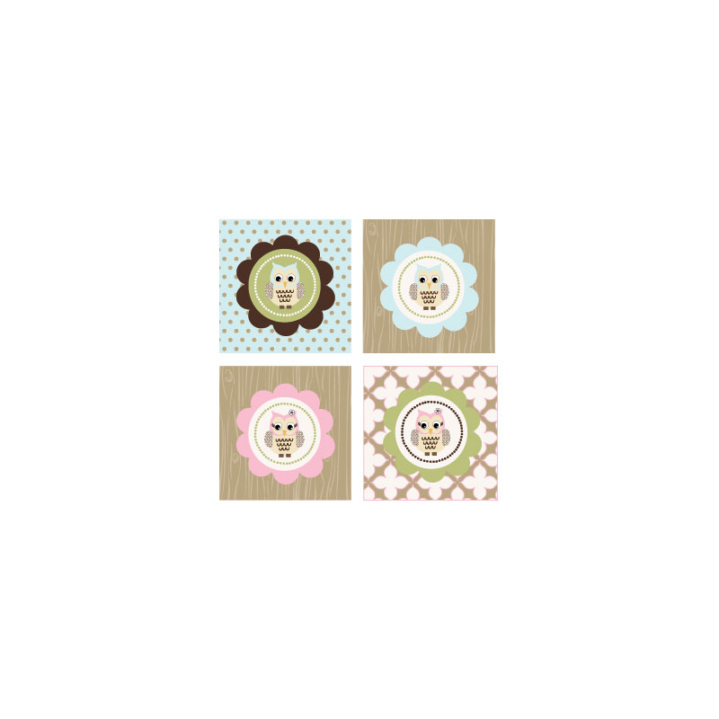 Woodland Owl Decorative Favor Tags Set Of 20