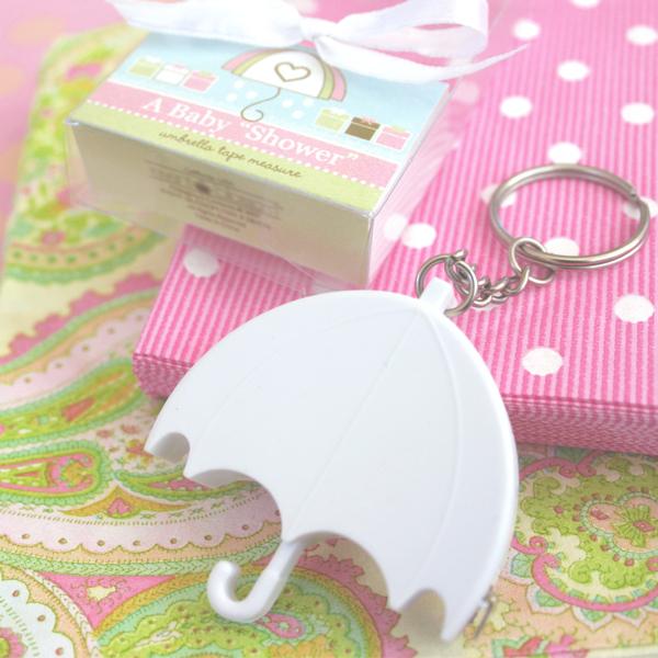 baby shower umbrella tape measure wedding favors