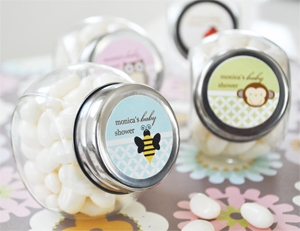 Baby Animals Personalized Candy Jars  wedding favors