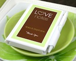 "Personalized ""Love Notes"" White Notebook Favors cheap favors"