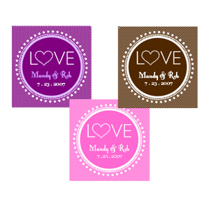 """Love"" Tags & Labels wedding favors"