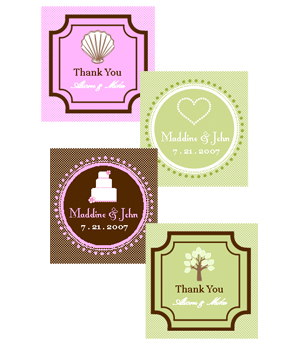 Square Theme Tags & Labels cheap favors