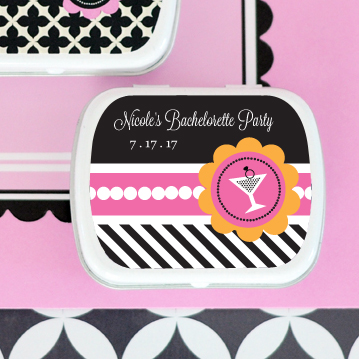 Bachelorette Party Personalized Mint Tins wedding favors