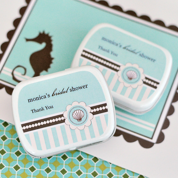Personalized Mint Tins - Beach Party wedding favors