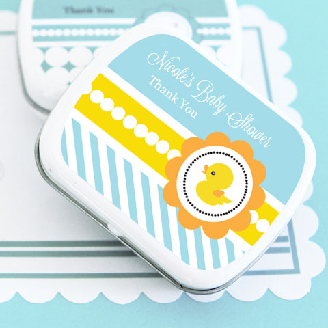 Rubber Ducky Personalized Mint Tins wedding favors