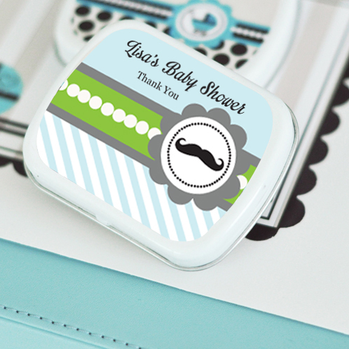 Little Man Party Personalized Mint Tins  wedding favors