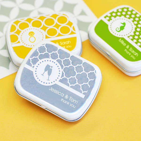 MOD Pattern Theme Mint Tins wedding favors