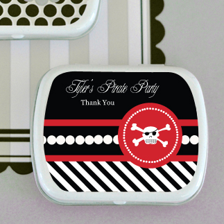 Pirate Party Personalized Mint Tins  wedding favors