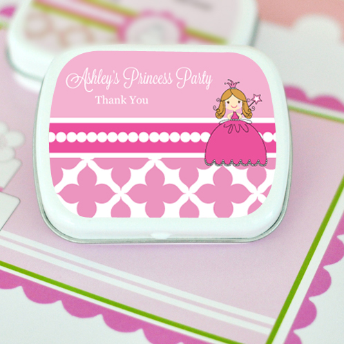 Princess Party Personalized Mint Tins  wedding favors