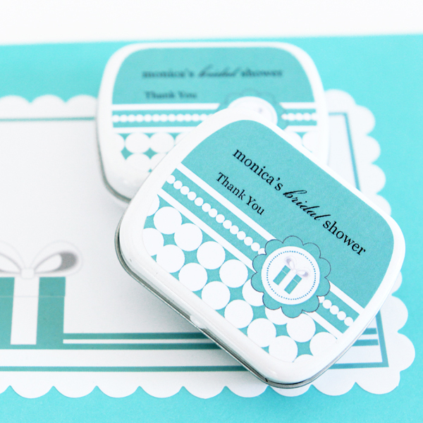Personalized Mint Tins - Something Blue wedding favors