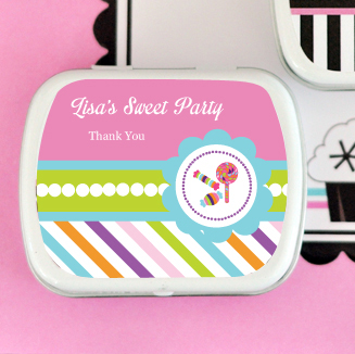 Sweet Shoppe Party Personalized Mint Tins  wedding favors