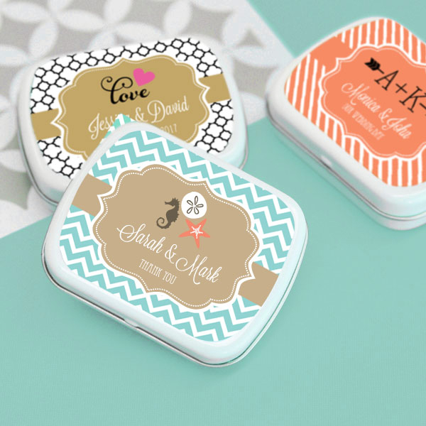 Personalized Theme Mint Tins wedding favors