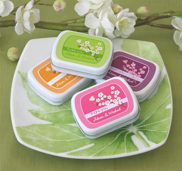 Cherry Blossom Mint Tins wedding favors
