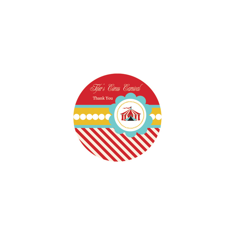 Circus Carnival Party Personalized Round Labels wedding favors