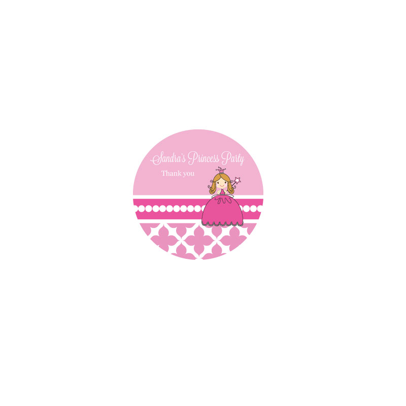 Princess Party Personalized Round Labels wedding favors