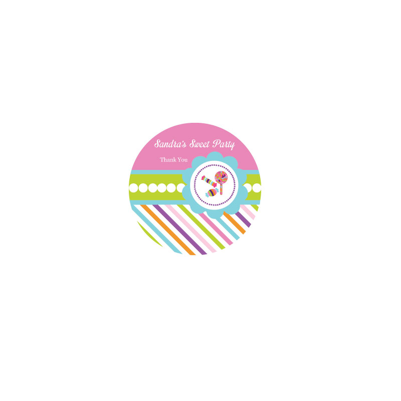 Sweet Shoppe Party Personalized Round Labels wedding favors