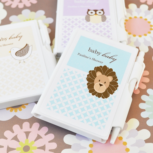 Baby Animals Personalized Notebook Favors  wedding favors