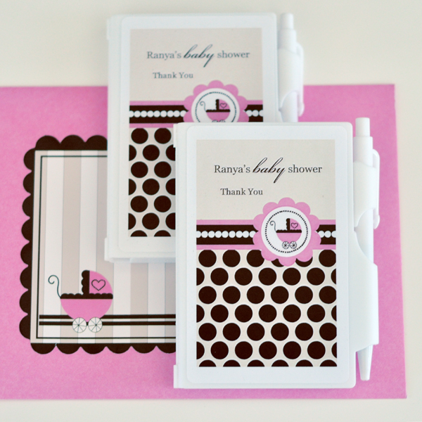 Personalized Notebook Favors - Pink Baby  wedding favors