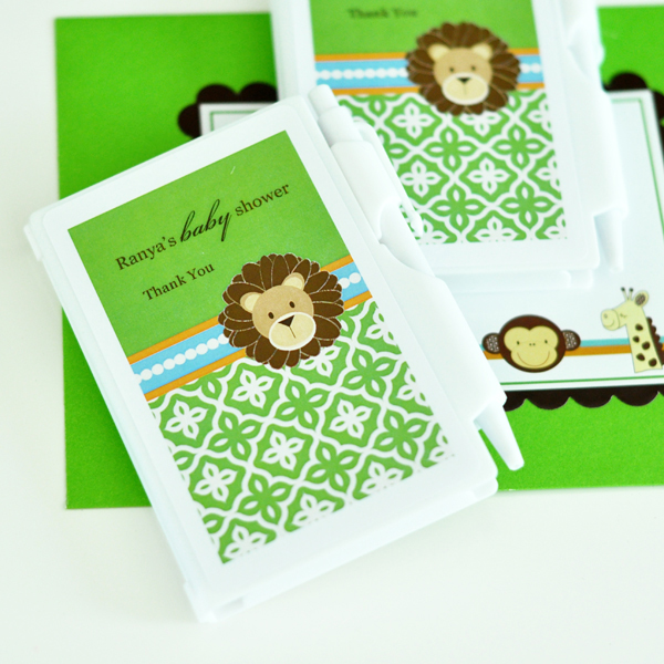 Personalized Notebook Favors - Jungle Safari  wedding favors