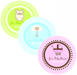Round Baby Shower Labels wedding favors