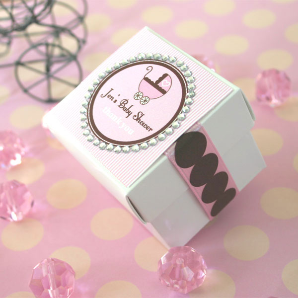 Personalized Rhinestone Border Baby Theme Tags & Labels wedding favors