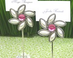"""Love Blooms"" Flower Place Card Holders cheap favors"