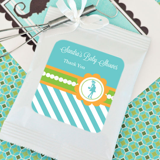 Going to Pop - Blue Personalized Hot Cocoa + Optional Heart Whisk wedding favors