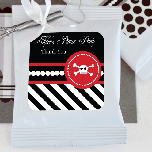 Pirate Party Personalized Hot Cocoa + Optional Heart Whisk  wedding favors