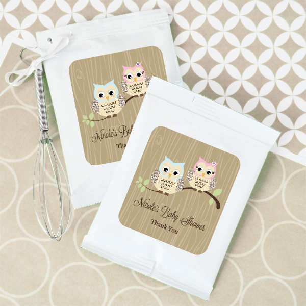 Woodland Owl Personalized Hot Cocoa Optional Heart Whisk