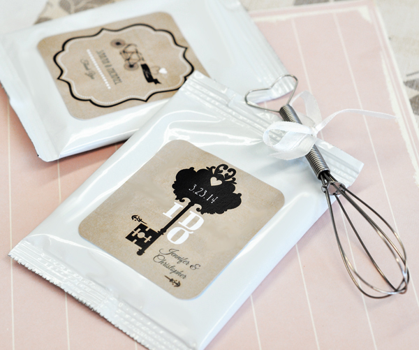 Vintage Wedding Personalized Lemonade + Optional Heart Whisk  cheap favors