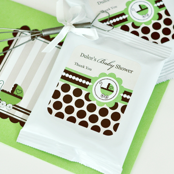 Personalized Lemonade + Optional Whisk - Green Baby wedding favors